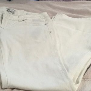 Rerock for Express white flare jeans.  NWOT